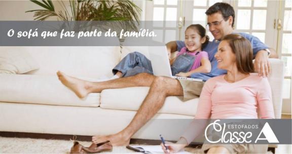 ...o sofá que faz parte da sua família